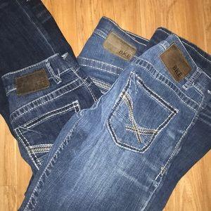 3 pair of BKE jeans!